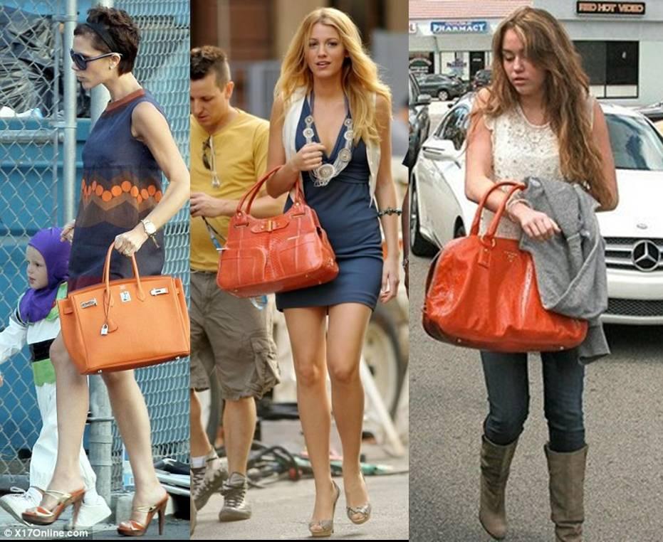 Trendy Tuesday Celebrities With Their Orange Purses