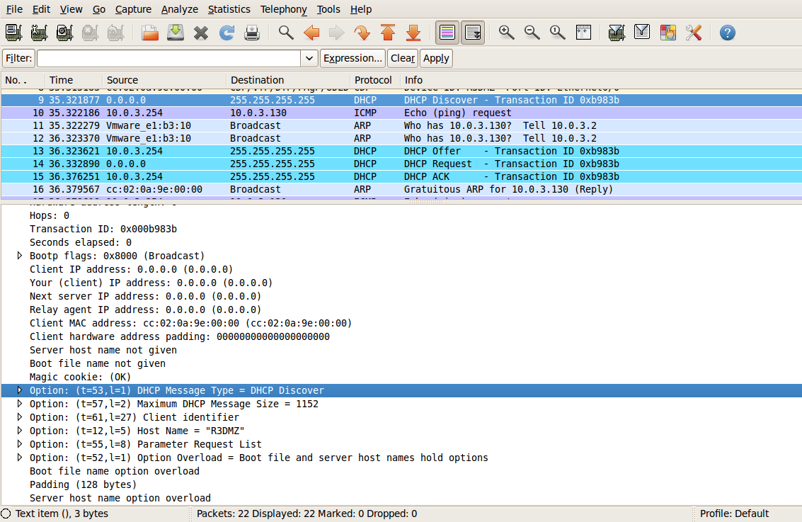 Bala's Blog: Four Stages of DHCP capture by Wireshark