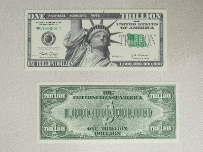New Style Trillion 1 000 Dollar Novelty Bill Featuring Lady Liberty Same Size As A Real Us 6 6cm X 15