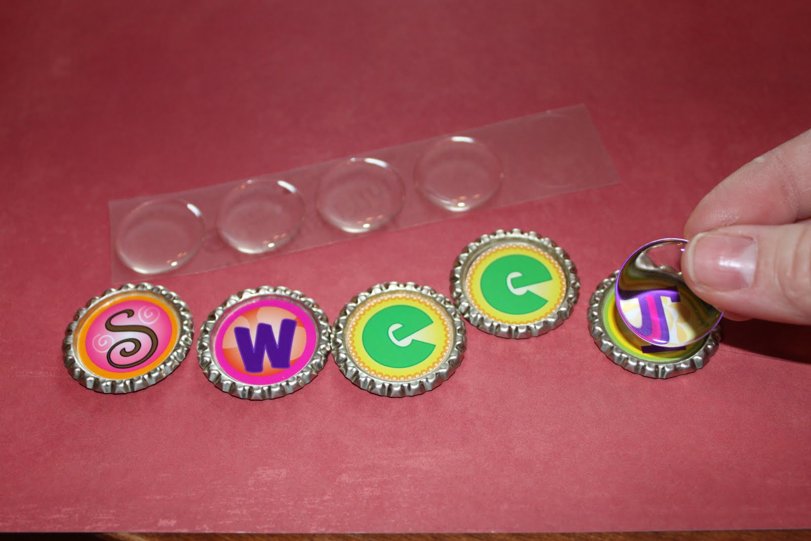 May I tap into your wisdom and extensive craft experience? Please? Here's what's happening: For Betty's Christmas Sibling Gifts, I thought bottle cap magnets.