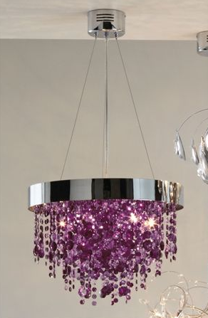 Domestic sluttery chandelier time purple crystal drops at next home aloadofball Gallery