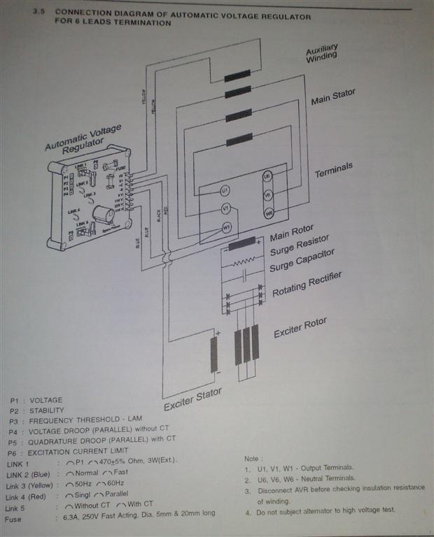 ELECTRIC MACHINES Elgi Electric Alternator  AVR Circuit