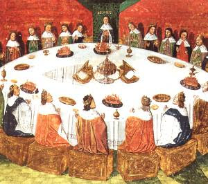 Les chevaliers de la table ronde la table ronde - La table ronde du roi arthur ...