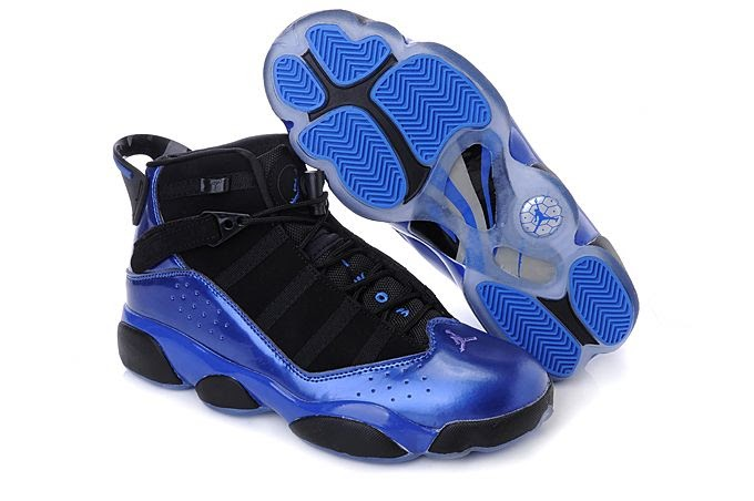 jordan 6 rings black and blue