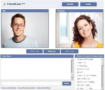 Facebook chat webcam