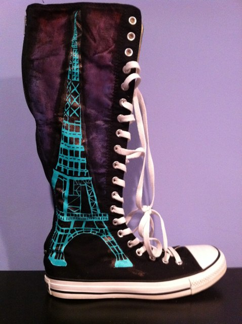 Get Your Kicks On Handpainted Shoes Eiffel Tower
