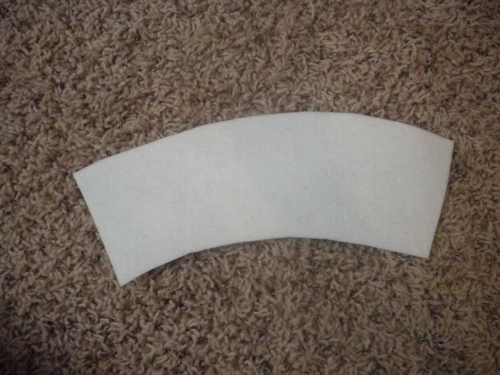 70e3602419a First we are going to make the cuff of the boot. This made using the Peltex  interfacing. You need two pieces that look like this