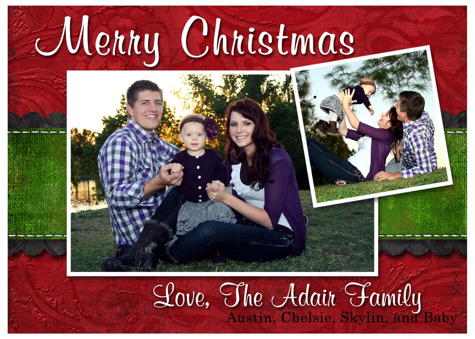 adair family christmas card