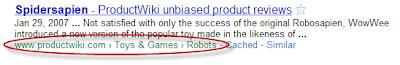 Breadcum en los snippets de google