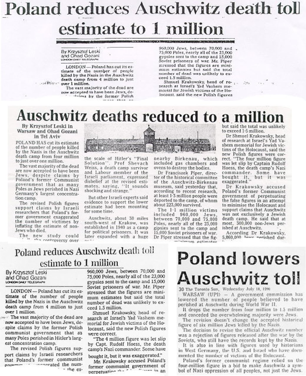 Image result for auschwitz 4 million to 1 million