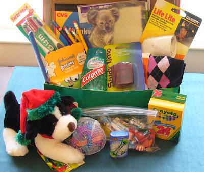 Operation Christmas Child filled shoebox
