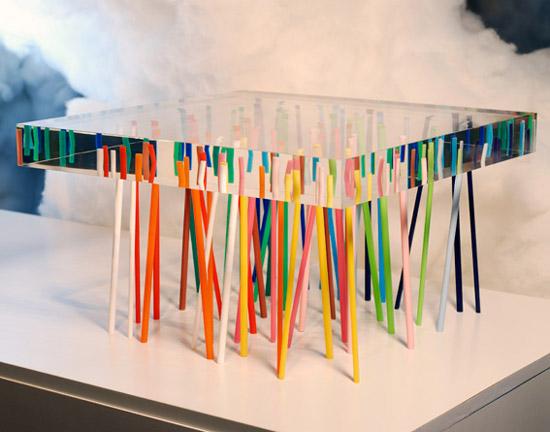 Sedie Plexiglass Colorate.Gocce D Aceto