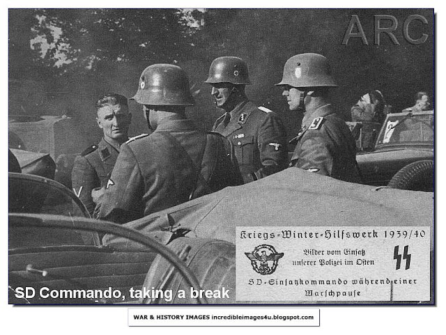 sd commando taking a break Einsatzgruppen Nazi Killing Squads
