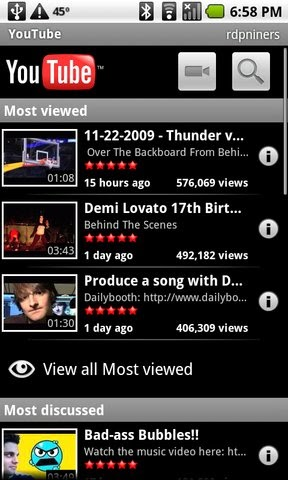 OneVsOne: Now you can watch music videos on You Tube's Android App