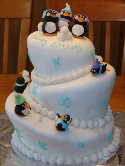 My Cake Hobby Penguin Topsy Turvy Cake