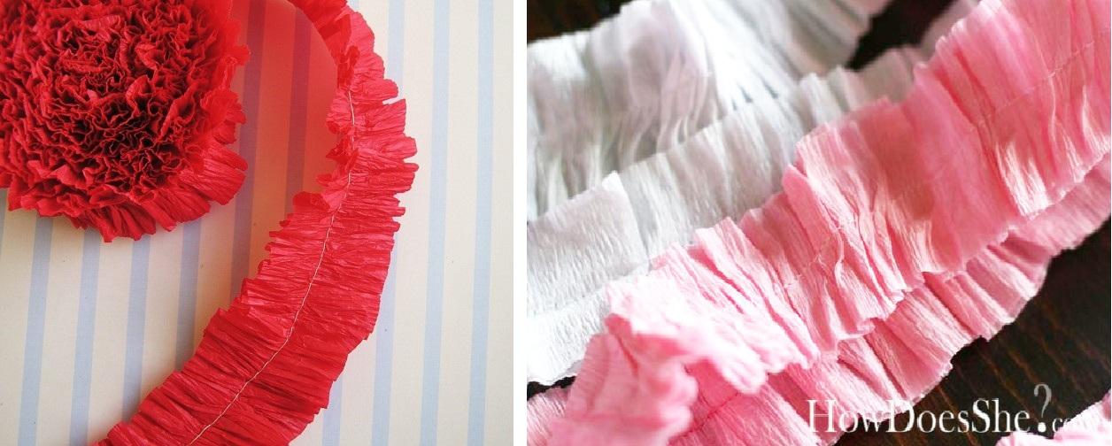 Blog de fiestas decoraci n con papel crep - Como hacer cadenetas de papel para fiestas ...