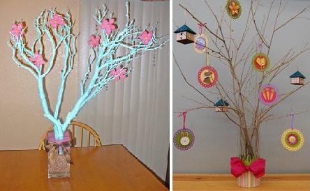 Ramas de rbol como centros de mesa - Ramas decoradas ...