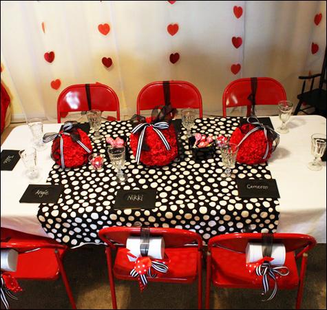 Fiesta olivia la cerdita - Decoracion blanco negro rojo ...