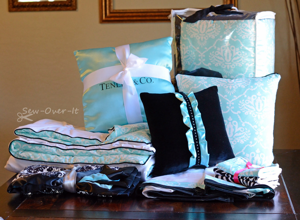 Sew-Over-It: Tiffany & Co. inspired - Crib bedding set