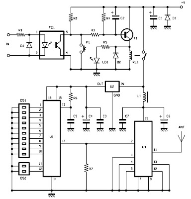 Aurel 400 mW radio unit electro schematic