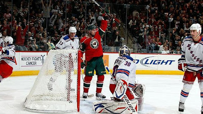 Rangers Woes Exposed by Wild. Eric Belanger scores 2nd goal for Wild