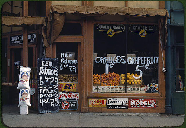 old grocery prices, 1940s, Lincoln Nebraska