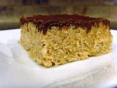 A piece of Butterfinger Scotcheroos sitting on a plate