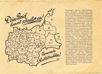 Postleitzahlen Karte Brandenburg.1943 Und 1946 Postleitzahlenkarte Von Deutschland Historische