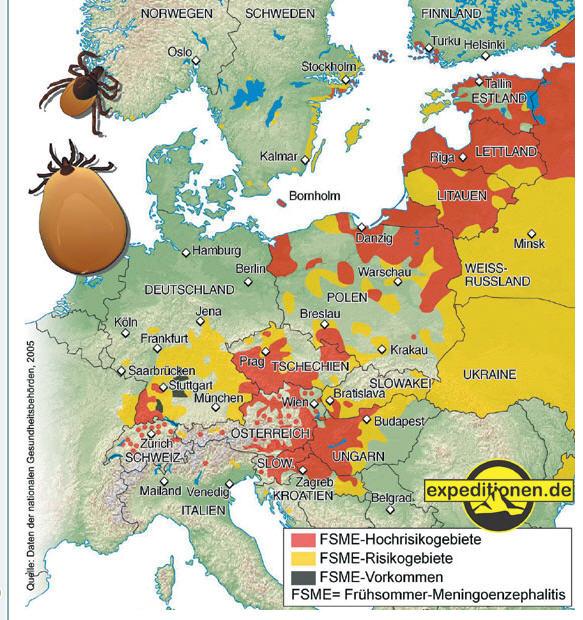 Frankfurt Karte Europa.Landkartenblog Borreliose In Europa Auch In Mittel Und