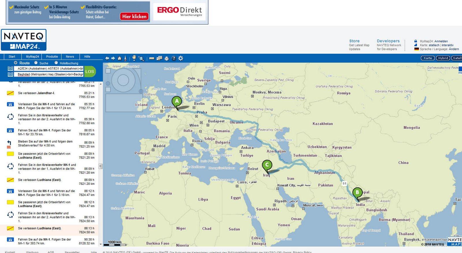 map24 route berechnen map24 web app chip eine karte von. Black Bedroom Furniture Sets. Home Design Ideas