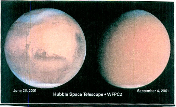 PICTURE RECEIVED FROM SPACE TELESCOPE