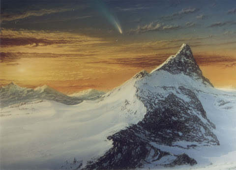 Andrew Stewart Space Art: Comet (Acrylic on Canvas)