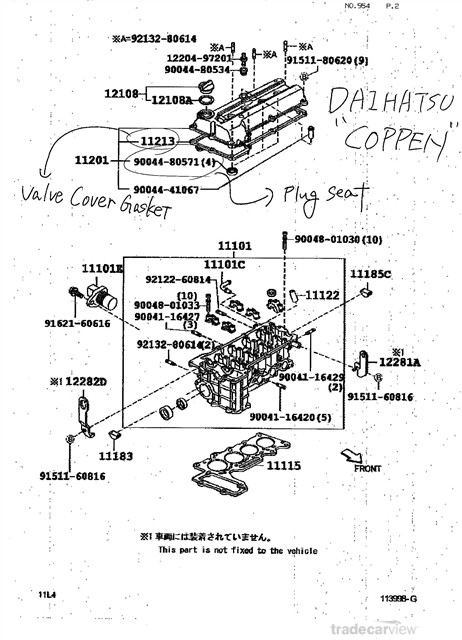 KP Gasket: Daihatsu Copen Engine View