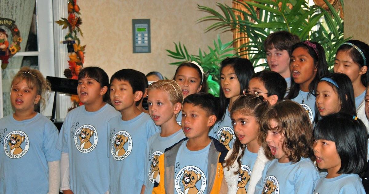 Fairmont Blog School News Anaheim Hills Cougar Chorus