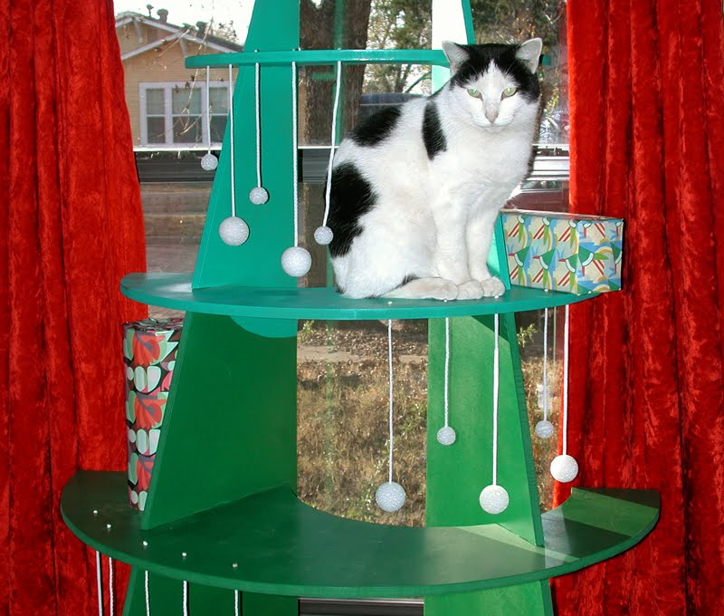 Are Christmas Trees Bad For Cats: Like Kittysville: DIY Climbable Christmas Tree