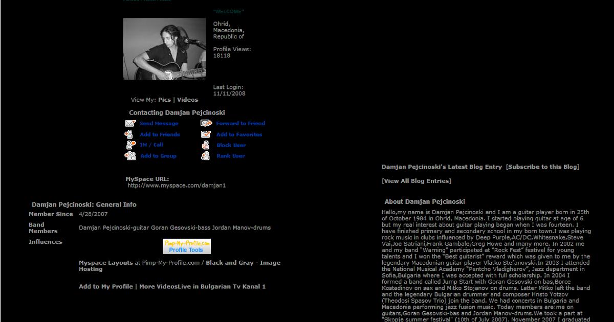 sax myspace layouts