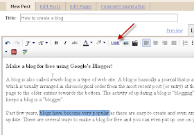 Blogger Blogging Tips How To Open Link In New Window