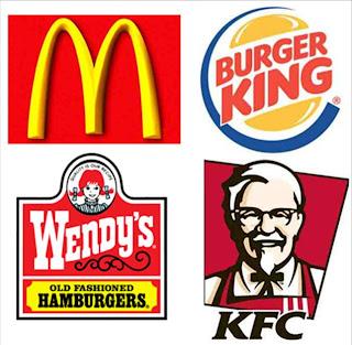 comida+rapida+logos - El Color del Marketing: usando los colores para vender más