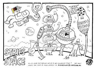 lariecook banner kleurplaat strips in space voor stripdagen