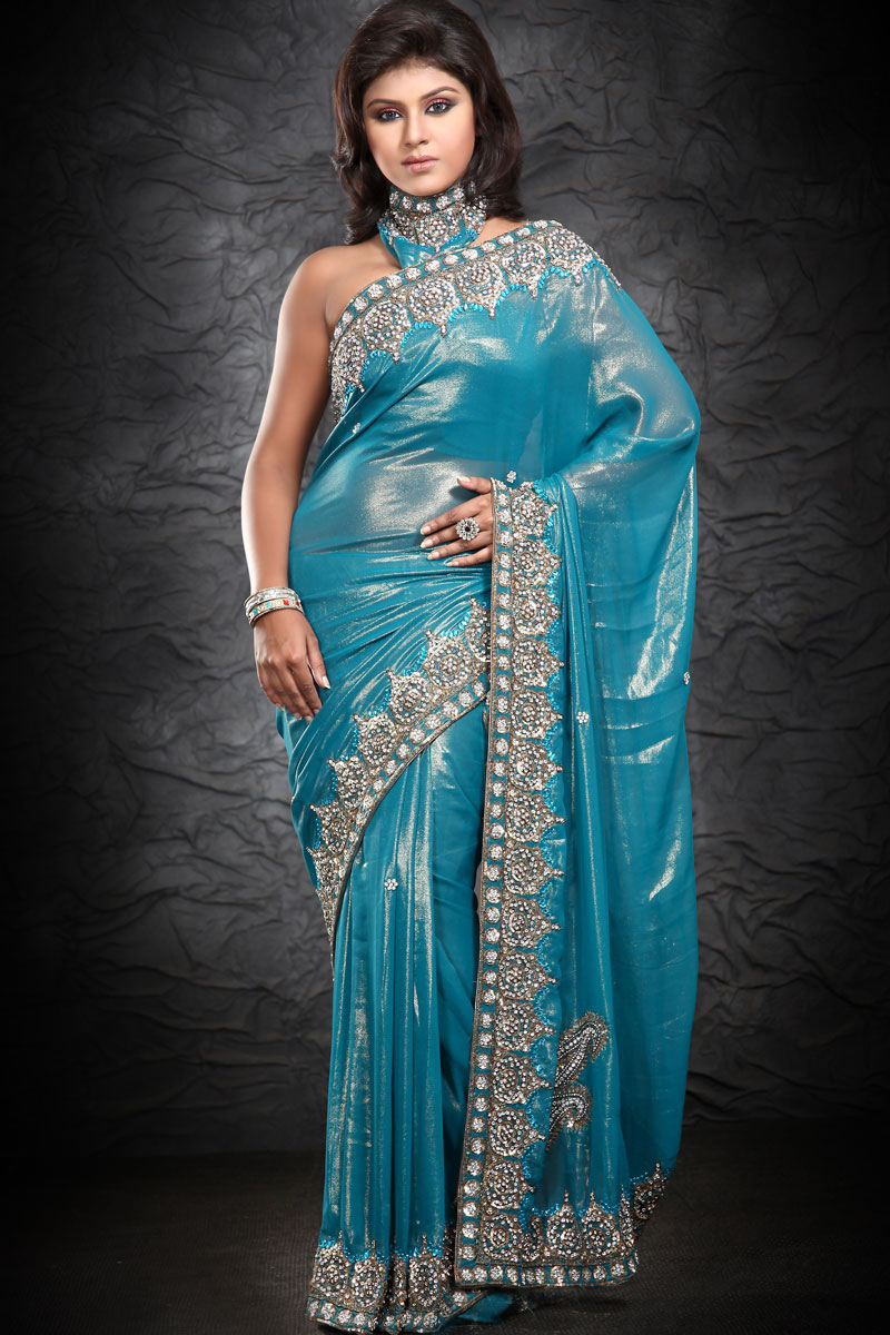 Kingdom Of Photo Albums: Models With Indian Designer Saree