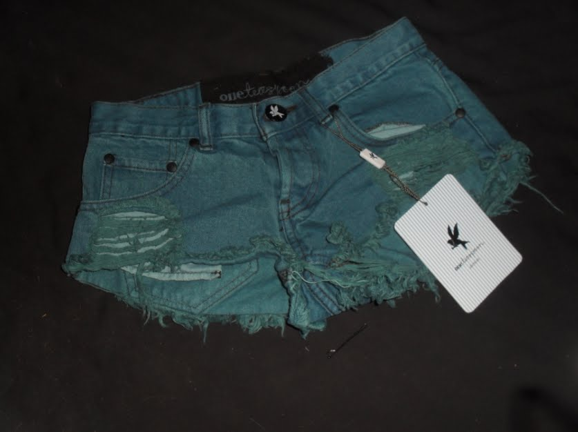 2a5107de0 im sorry, but i love the name of my new green denim shorts by one teaspoon!!