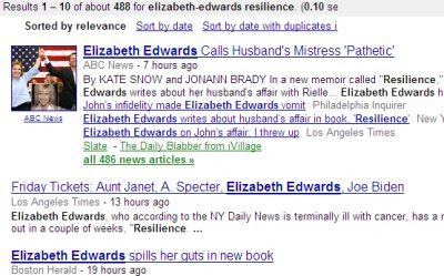 Doug Ross @ Journal: Resilience by Elizabeth Edwards vs  a