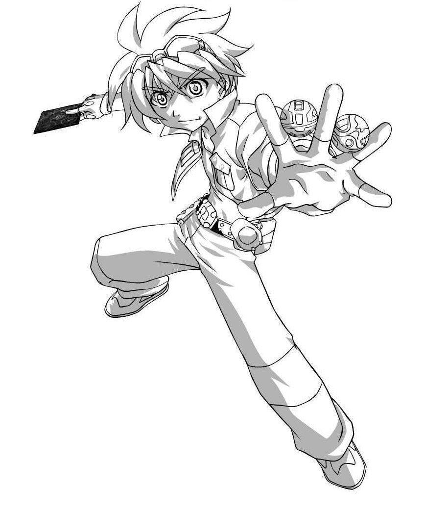 baú da web desenhos do bakugan para colorir