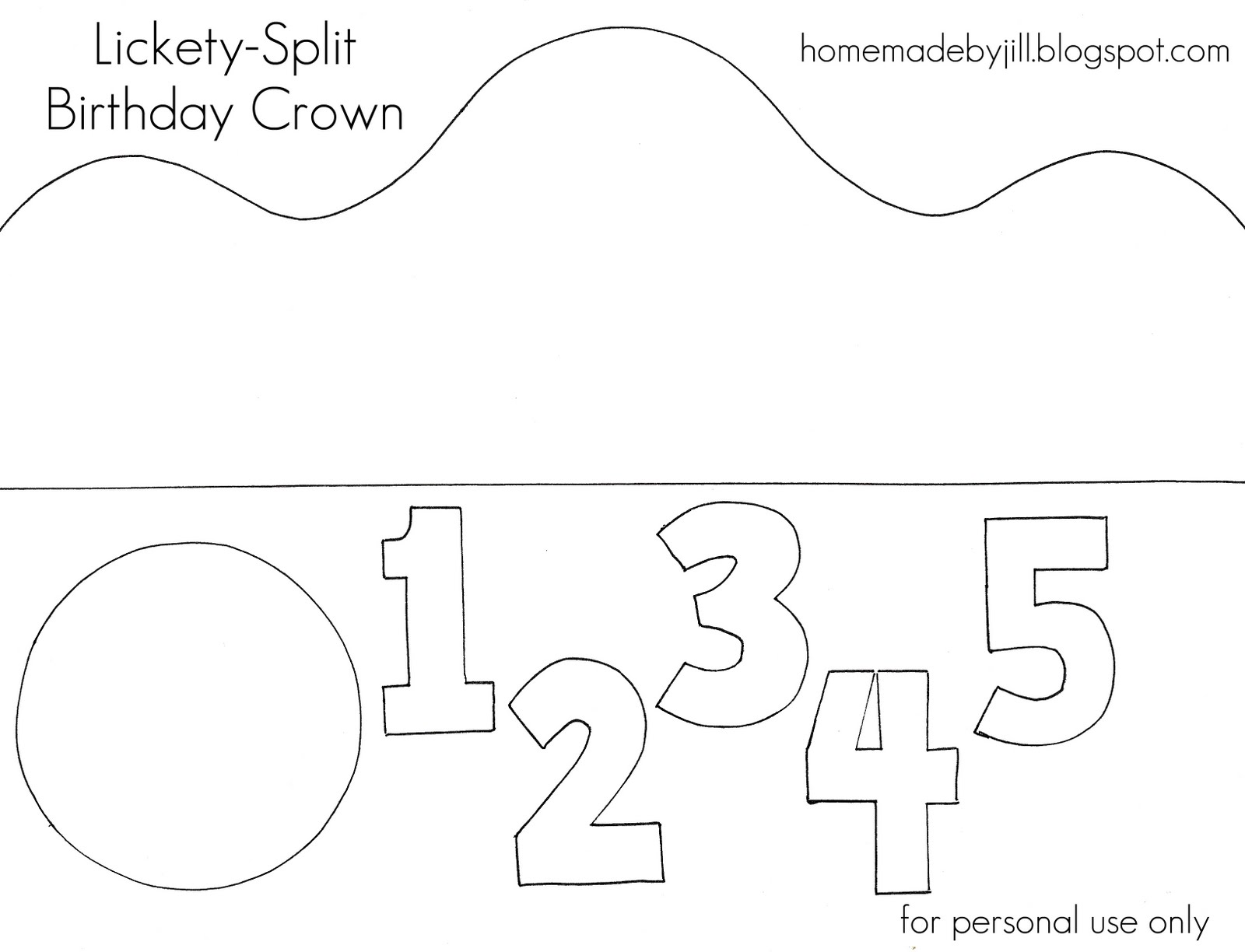 Crown Template Printable Lickety-split birthday crown