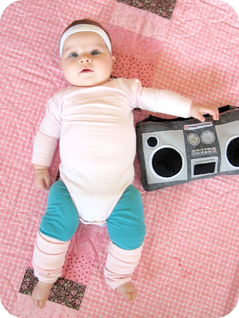 Baby Aerobics Instructor with plush Boombox Costume