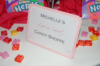 3155d59dd36 Here are pictures of the Candy Bar we created for Michelle s Bridal Shower  at The Ria Mar in South River