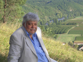 Indra Sinha near his home in France. Picture by Dan Sinha.