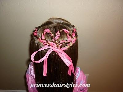 Excellent Ribbon Braids Heart Hair Hairstyles For Girls Princess Hairstyles Hairstyles For Women Draintrainus