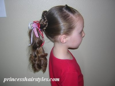 quick valentines hairstyle