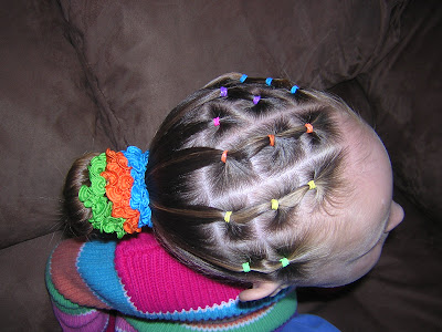 Strange Gymnastics Hairstyle Rainbow Elastic Braids Hairstyles For Short Hairstyles For Black Women Fulllsitofus